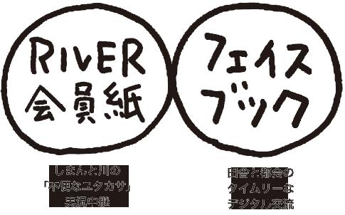 RIVER会員紙・フェイスブック
